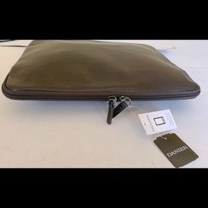 "Danier Soft real Leather Laptop Case 12.5"" Zipped"